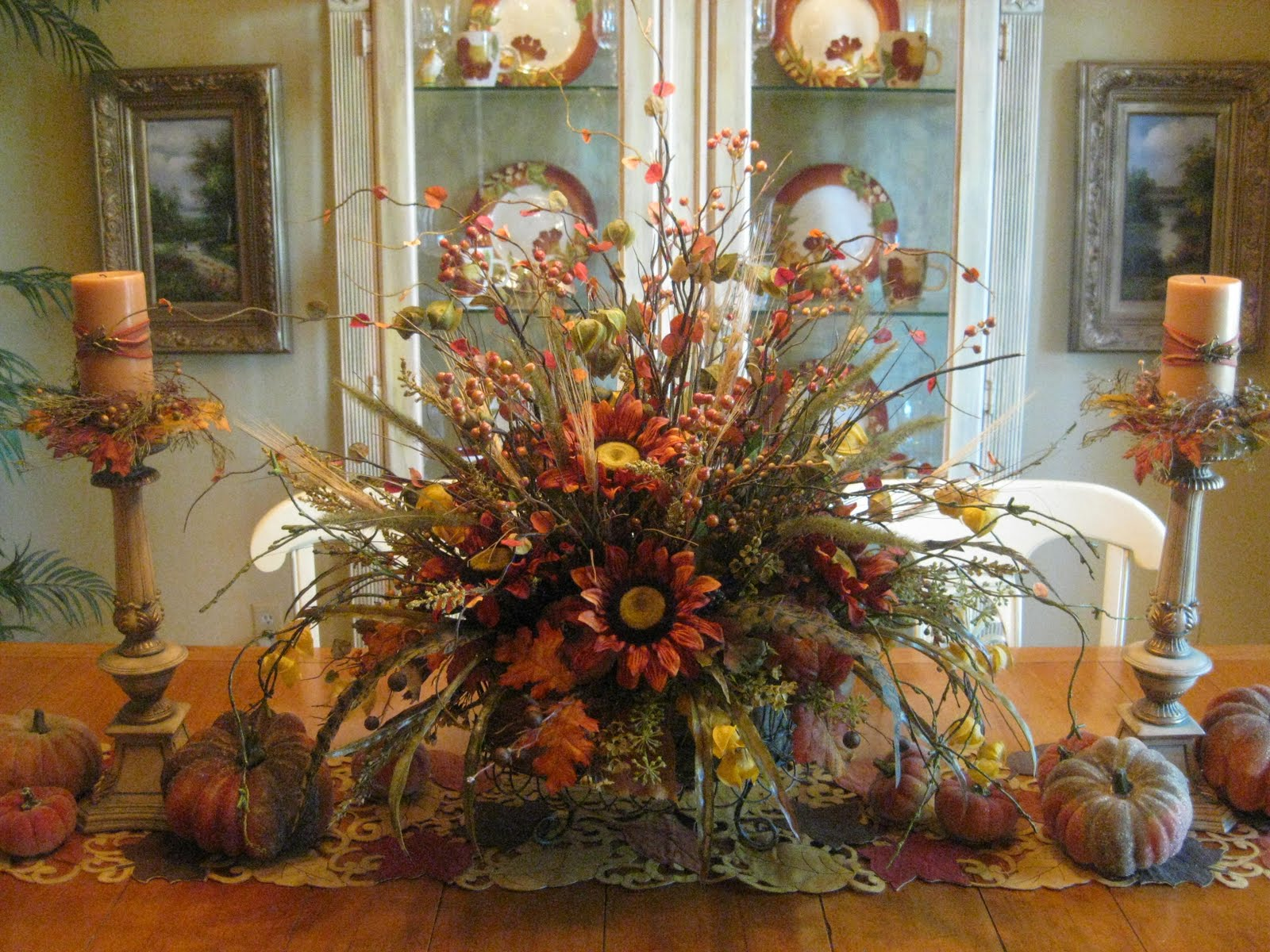 kristen 39 s creations the dining room dressed for fall. Black Bedroom Furniture Sets. Home Design Ideas
