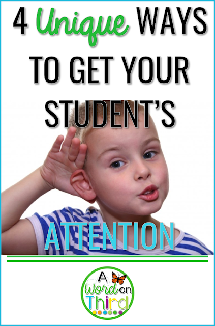 4 Unique Ways To Get Your Student's Attention