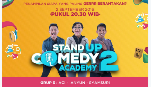 Peserta Stand Up Comedy Academy 2 yang Gantung Mik Tgl 02 September 2016