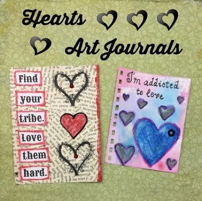 heart art journals