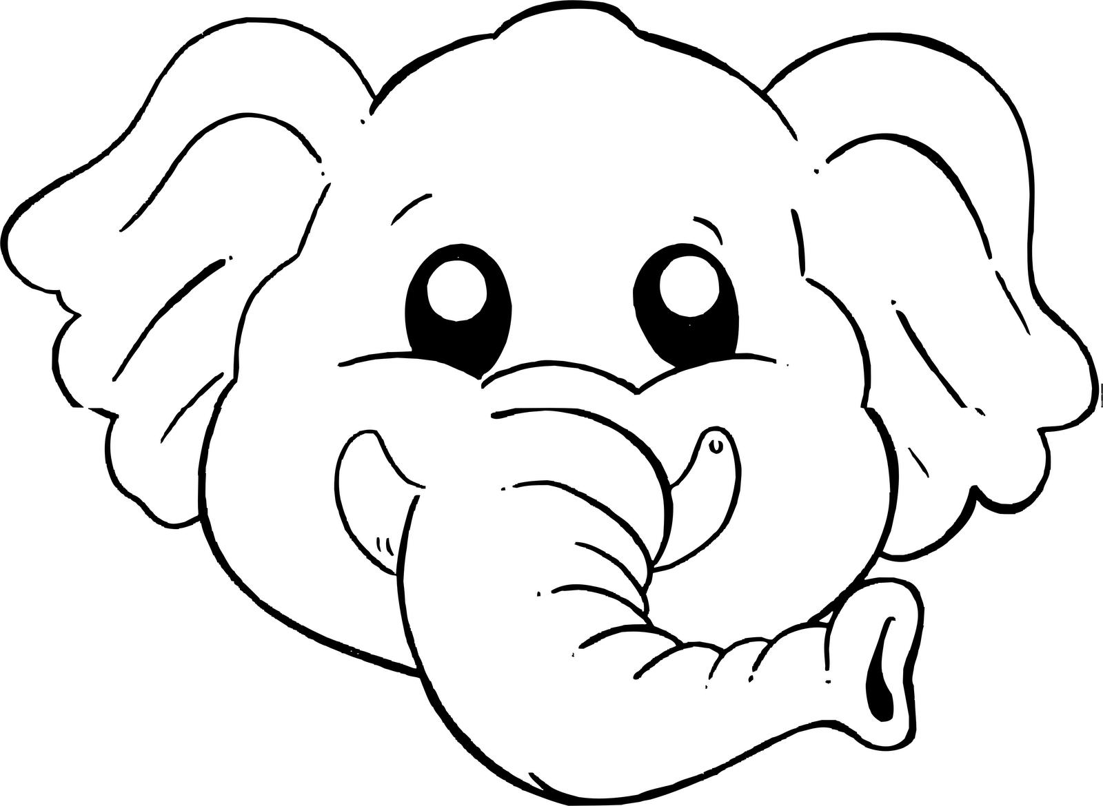 Dibujo Elefante Para Colorear E Imprimir: Mascaras De Elefantes Para Imprimir