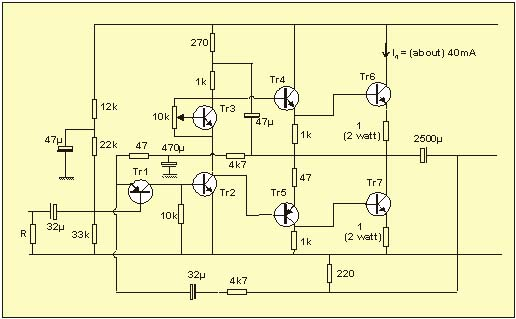 simple power amplifier circuit 2n3055 diy circuit rh avecircuits blogspot com 6L6 Tube Amplifier Schematic Amplifier Kits