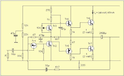 Simple Power Amplifier Circuit Diagram