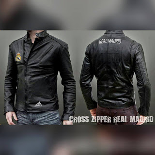 jaket kulit real madrid
