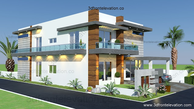 Front Elevation Houses Islamabad : D front elevation marla houses design islamabad
