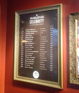 It's always nice to see a celebrity leaderboard