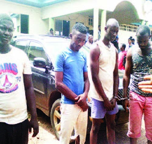 See Deadly Armed Robbery Syndicate Caught Snatching Cars in Abia State (Photo)