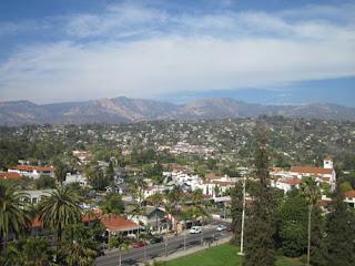 Santa Ynez Mountains in the distance.