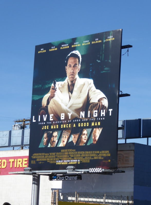 Live by Night film billboard
