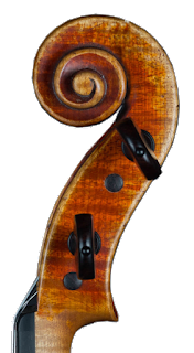 Violin head made in copy of Guadagnini by Nicolas Bonet - Tete de violon en copie de Guadagnini