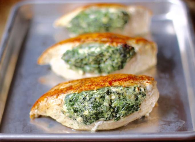 spinach stuffed chicken breasts #healthydinner #chicken