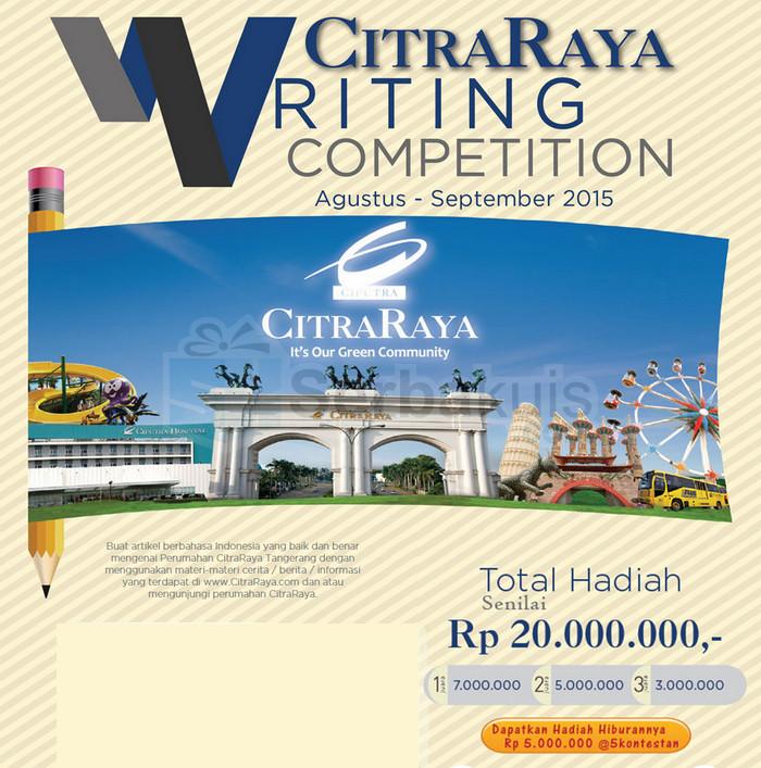 Kontes Blog CitraRaya Berhadiah Uang Total 20 Juta