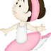 Pretty Ballerinas Clip Art.