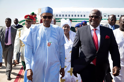 Muhammadu Buhari in The Gambia with other ECOWAS leaders today