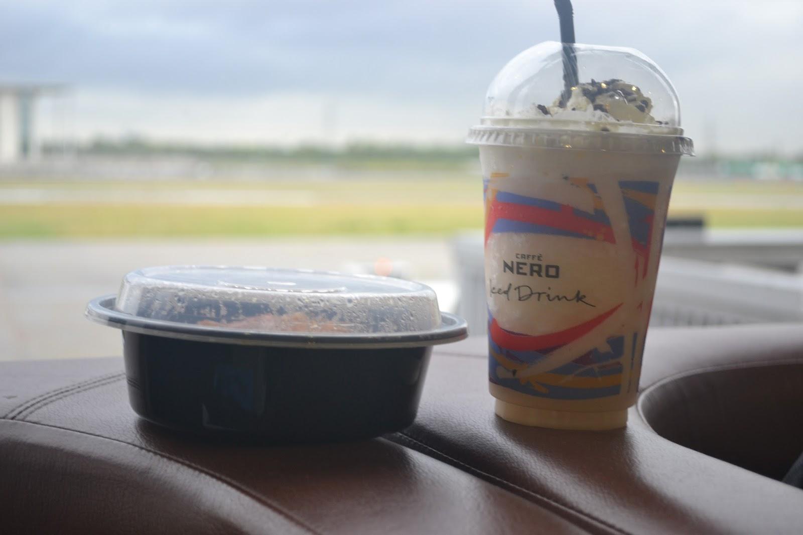 Caffe Nero Frappucino at the Airport