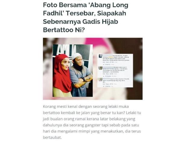 Abang Long Fadhil Bersama Gadis Hijab?