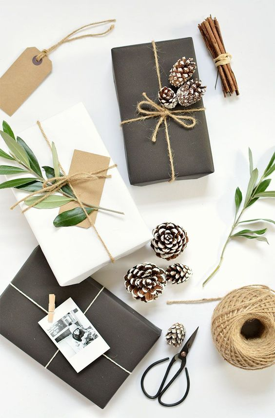 DIY 5 gift wrap ideas for christmas