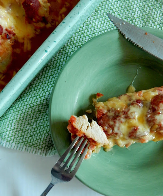 Oven Baked Hawaiian Chicken...super simple and very tasty! All the flavors of Hawaiian pizza on chicken!  Lower carb, high protein, delicious dinner. (sweetandsavoryfood.com)