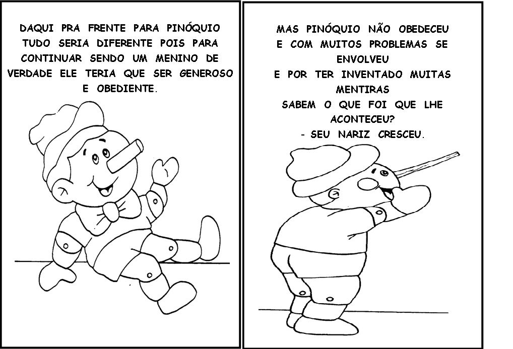 Pin Imagens Do Pinoquio Para Imprimir E Colorir Educação
