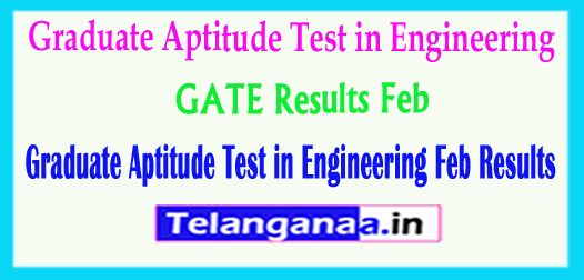 GATE Results Feb 2018 Graduate Aptitude Test in Engineering Feb 2018 Results