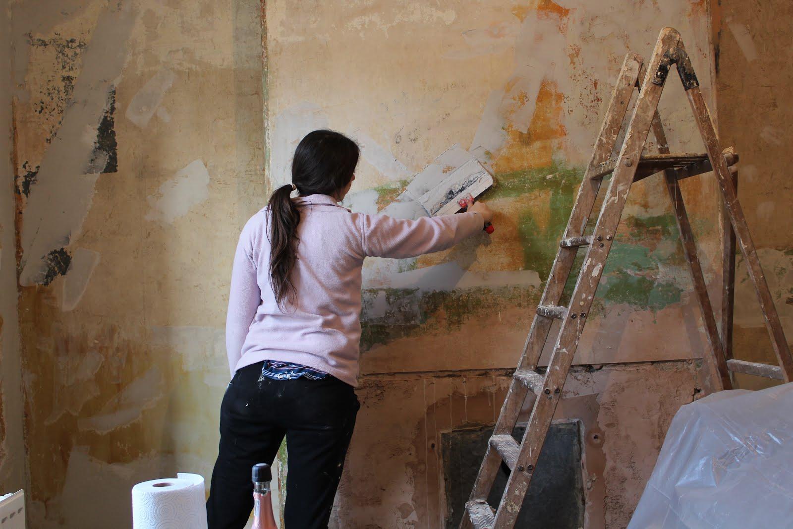 repairing old plaster