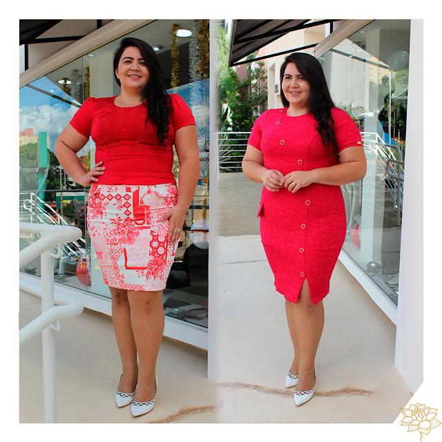 Conjunto & Vestido Vermelho, são muitas opções, venha conferir!