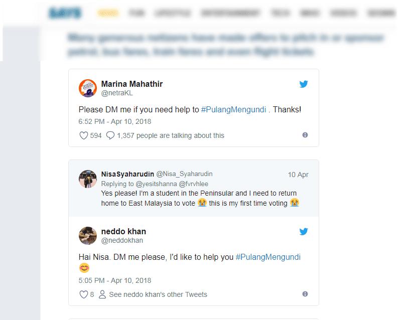 #PulangMengundi Trending di Twitter