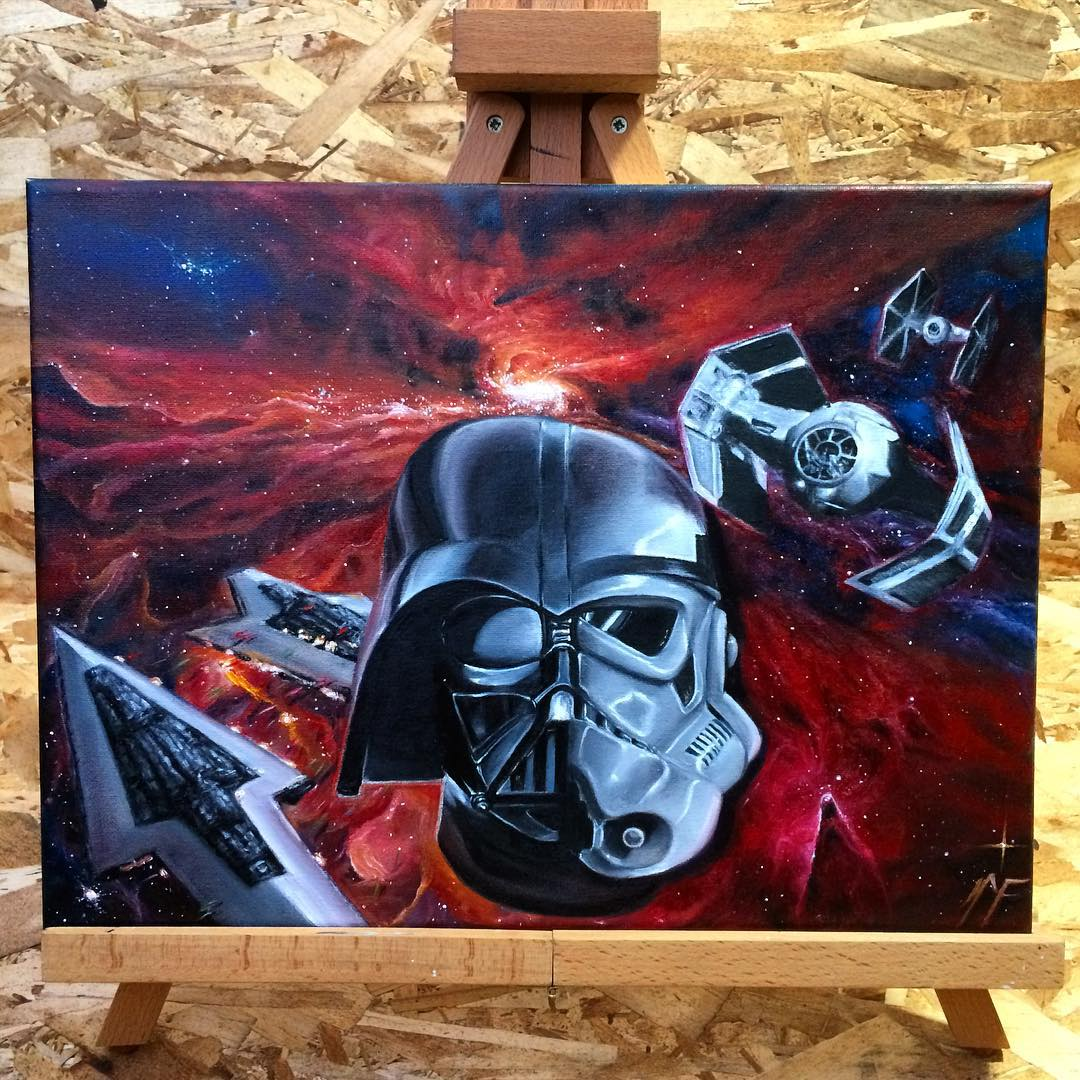 16-Star-Wars-Darth-Vader-Stormtrooper-Natasha-Farnsworth-Drawings-and-Paintings-Celebrity-Portraits-www-designstack-co