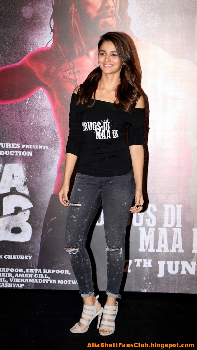 Alia Bhatt at Udta Punjab Movie Promotion Photo Gallery