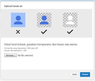cara upload tanda air di youtube