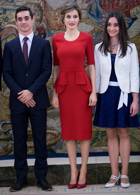 Queen Letizia and King Felipe held a lunch for 'Fernando del Paso and Meets World Figure Skating Champion Javier Fernandez