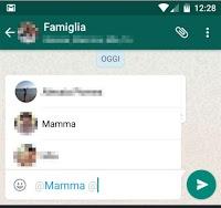 Taggare persone su Whatsapp nei gruppi per inviare loro notifica