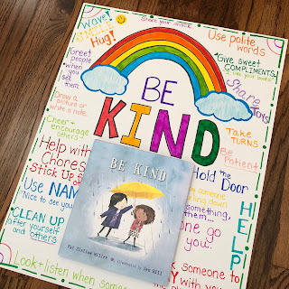 Be Kind picture book and anchor chart
