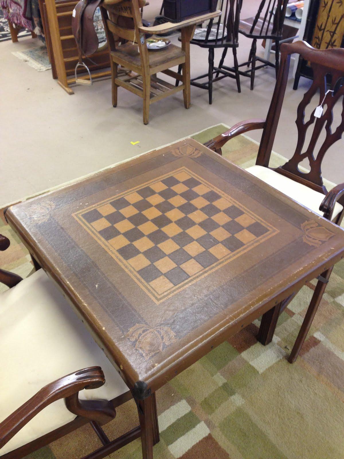 Checkers Anyone Antique Samson Luggage Checker Table 65