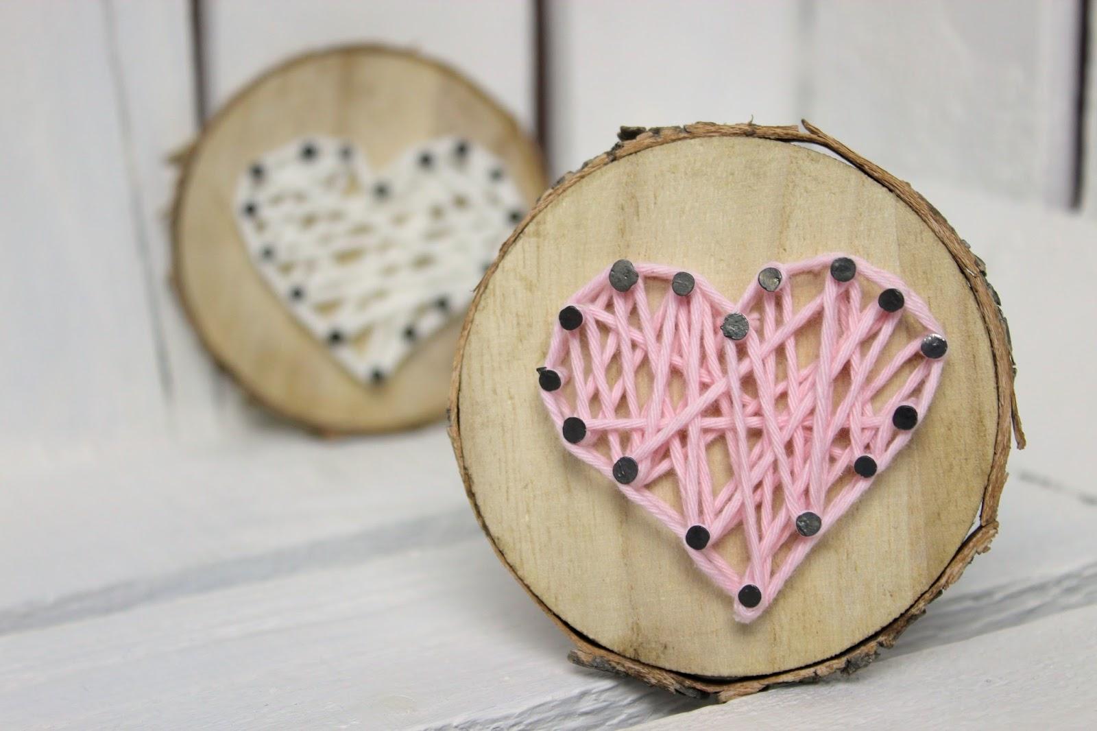 Diy Susses Geschenk Zum Valentinstag Baumscheibe Mit Herz In String