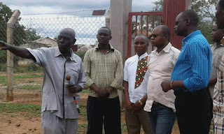 Teddy Mwambire (Center) with Amason Kingi (Right) inspecting a project. PHOTO | George Charo