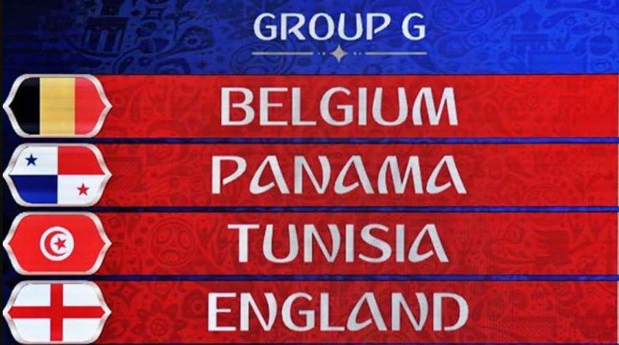 Russia 2018: Risultati Classifica Gruppo G con Belgio Inghilterra Tunisia Panama | Mondiali di Calcio