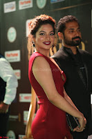 Natasha Nebasha in a Leg Slit Sleeveless Stunning Red Gown at IIFA Utsavam Awards 2017 040.JPG