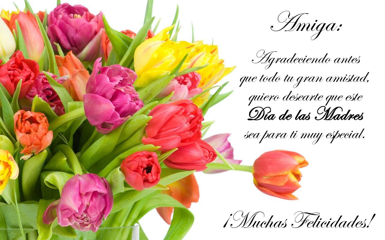 Idool Feliz Día De Las Madres Mensaje Para Una Amiga Wallpaper