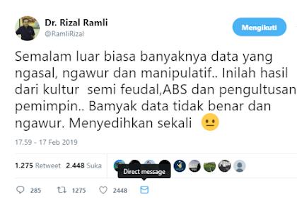 Menohok! Begini Komentar Pedas Rizal Ramli Soal Data Keliru Debat Capres