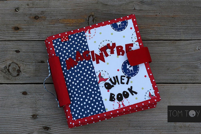 Handmade MacIntyre quiet book by TomToy Unique baby gift