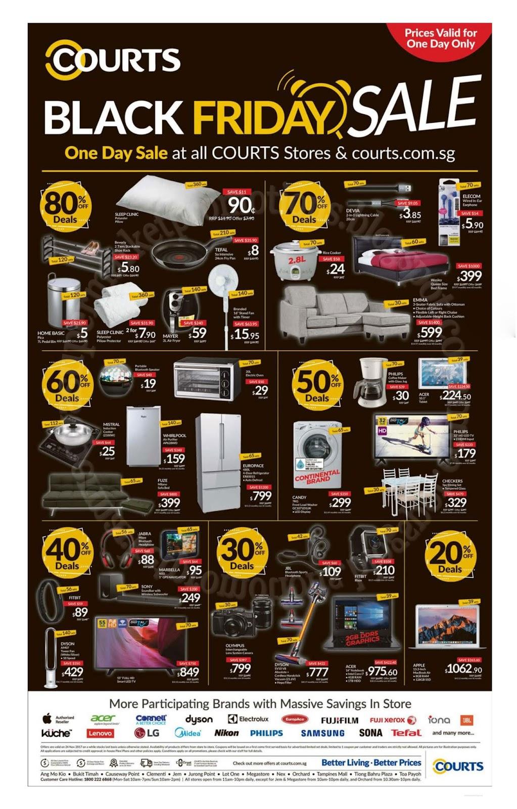 Courts Black Friday Sale 24 November 2017 Supermarket