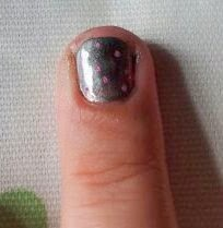 , Pink Polka Dot Nail Art for Cybher #cbias