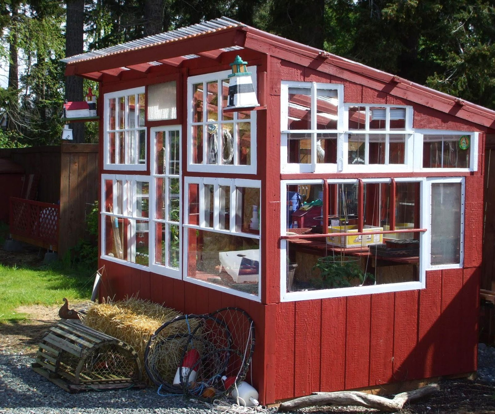 How to Build a Chicken Coop or Greenhouse From Cattle ...  Diy Chicken Coop Greenhouse