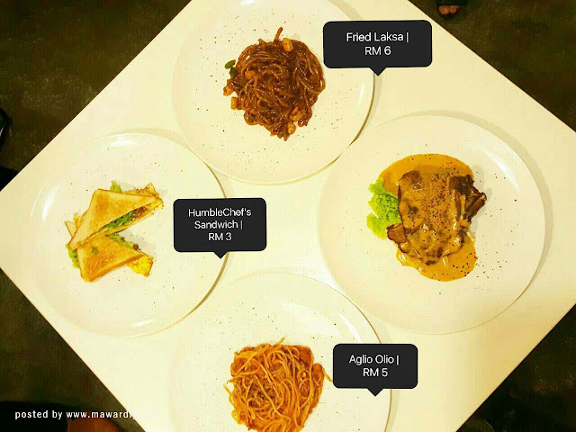 Harga menu di Humble Chef Cafe