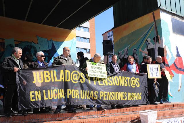 protesta de pensionistas y jubilados