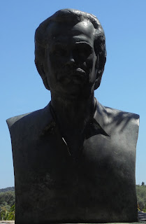 η προτομή του Αλέξανδρου Παναγούλη στον Σύβρο της Λευκάδας