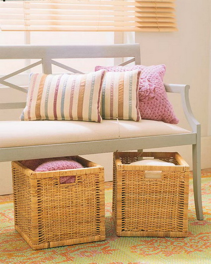 Ideas for decorating with wicker baskets 8