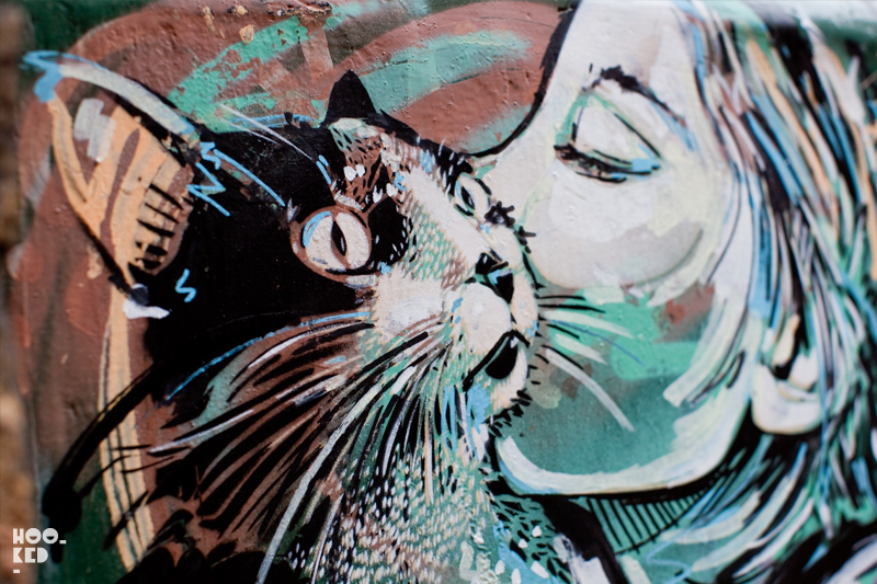 Alice Pasquini - Shoreditch Street Art cat