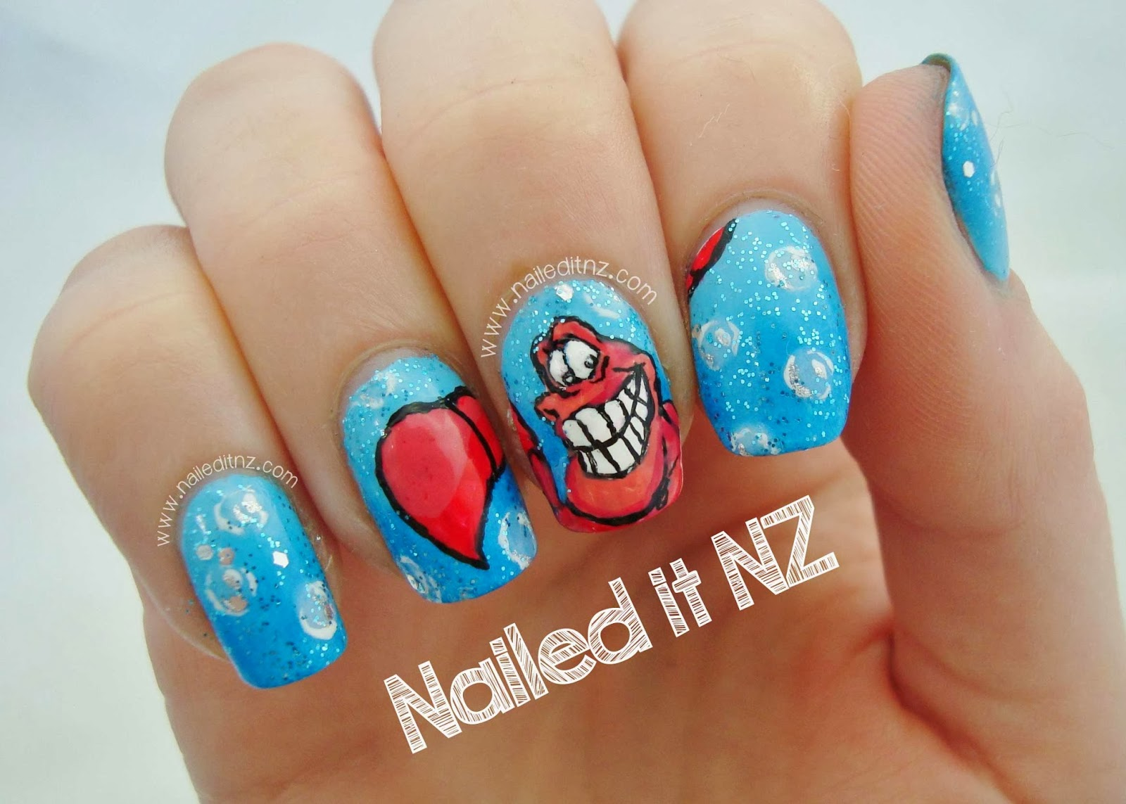 Disney Nail Art #4 - The Little Mermaid